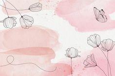 Vintage Floral Backgrounds, Flower Backgrounds, Flower Wallpaper, Wallpaper Backgrounds, Backgrounds Free, Floral Watercolor Background, Pastel Background, Watercolor Flowers, Powerpoint Background Design