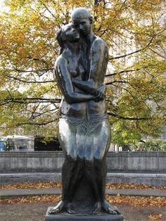 """""""The Young Lovers"""" by Georg Ehrlich, 1951, Festival Gardens, City of London, London"""