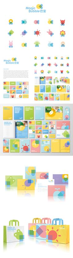 Magic Bubble childhood education identity, packaging and branding sure is cute PD