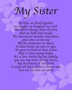10 Heartfelt Sister Poems Quotes Sister Poems Birthday Sister