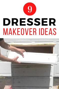 Decorating on a budget is easy with these 9 dresser upcycling projects. Whether you have a vintage dresser or a cheap modern ikea one, these unique painted wood furniture ideas are fun so check out the before and after photos. #diy #dresser #makeover Diy Furniture Projects, Upcycling Projects, Wood Furniture, Upcycled Furniture, Kids Dressers, Vintage Dressers, Diy Dresser Makeover, Furniture Makeover, Dresser Makeovers