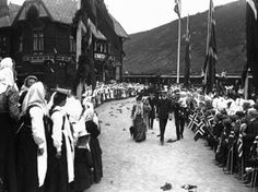 Otta - 1906 - King Haakon and Queen Maud