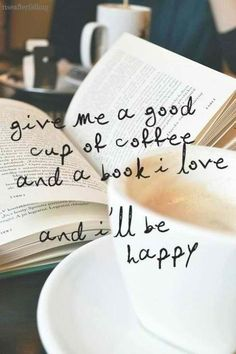 A book and coffee is always good :) - Coffee and Books