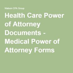 how to get health care power of attorney