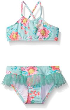 Seafolly Little Girls Spring Bloom Tankini Multi Floral 6 -- Read more reviews of the product by visiting the link on the image.
