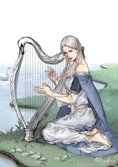 """Eärwen -  the """"Swan-maiden; the wife of Finarfin and the mother of Finrod, Angrod, Aegnor and Galadriel"""