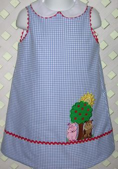Down On The Farm Girls A line Dress by GumdropGrove on Etsy, $42.00