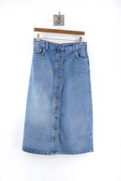 Just Female Pine Long Denim Skirt
