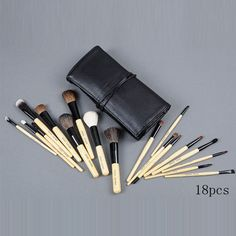 bobbi brown 18 pieces of brushes set with black pouch : cheap mac cosmetics wholesale - $43.25