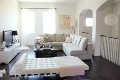 chaise lounge gives it a hotel look - The Las Vegas Home of MadeByGirl's Jen Ramos