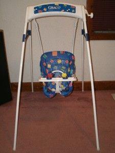 Vintage Graco Swingomatic Wind Up Crank Infant Baby Swing