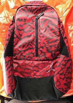 Air Jordan Nike Jumpman Backpack Laptop School Gym Bag Black Red 9A1776-R78 e2d8d06cf95ae