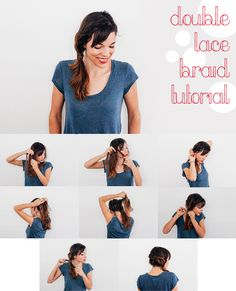 Lace braids are one of the easiest braid styles to do yourself, and there are many ways to try them! This lace braid tutorial is just one way to style your own hair for either your next bad hair day or an evening out: http://www.ehow.com/ehow-style/blog/easy-diy-hairstyle-double-lace-braid-tutorial/?utm_source=pinterest.com&utm_medium=referral&utm_content=blog&utm_campaign=fanpage