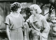 Jean Harlow and Mary Astor (Red Dust, Old Hollywood Movies, Old Hollywood Glamour, Hollywood Actresses, Classic Hollywood, Actors & Actresses, Jean Harlow, Victor Fleming, Mary Astor, Mary Pickford