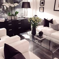 Black and White Living Room Decorating Ideas . √ 28 Black and White Living Room Decorating Ideas . 48 Black and White Living Room Ideas Decoholic Living Room White, Home Living Room, Apartment Living, Cozy Apartment, White Apartment, Apartment Goals, Apartment Kitchen, Apartment Ideas, Design Living Room