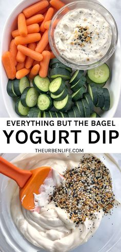 Copycat Trader Joe's Everything But The Bagel Yogurt Dip #vegan #plantbased #dairyfree #nondairy #nodairy #vegetarian #healthy #snack #appetizer #easyrecipe Dip Recipes, Dairy Free Recipes, Real Food Recipes, Vegan Recipes, Yummy Food, Delicious Recipes, Yogurt Dip Recipe, Vegan Yogurt, Trader Joes Vegan