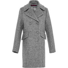 Martin Grant Military Coat (€1.170) ❤ liked on Polyvore featuring outerwear, coats, grey military coat, military coat, field coat, double breasted military coat and double-breasted coat