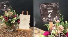 Love these - Free printable Chalkboard Wedding Table Numbers from botanicalpaperworks.com
