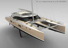TZ3D 85' Sailing Catamaran Power Catamaran, Sailing Catamaran, Yacht Boat, Sailing Boat, Ocean Cruise, Cool Boats, Yacht Design, Sail Away, Super Yachts