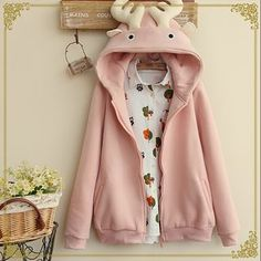 Buy 'Fairyland – Antler Accent Hooded Jacket' with Free International Shipping at YesStyle.com. Browse and shop for thousands of Asian fashion items from China and more!