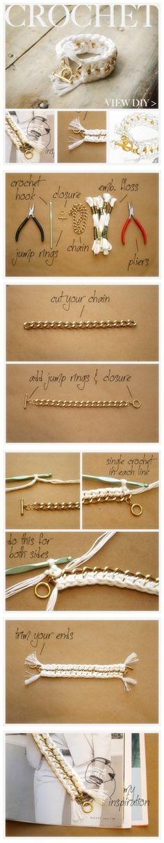 crochet bracelet by juliana.denver.58