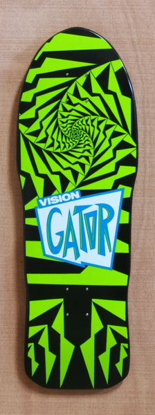 """I always wanted one of these.   Vision 30"""" Gator Black & Green Skateboard Deck"""