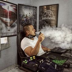 Working-Gaming-Vaping area #vapeporn