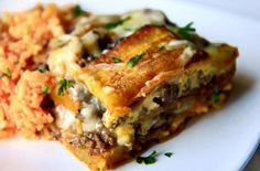 Piñon: Sweet and Savory Puerto Rican Lasagna | this is one delicious casserole that beautifully marries the sweetness of ripe plantains with an aromatic beef filling. @bettycrocker