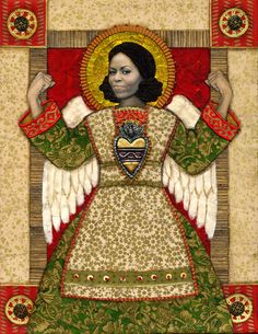 Everyday Saints Print: Our Lady of Grace and Power — Rogene Manas Mixed Media Artist Something That I Want, Fight The Good Fight, Party Mix, Adore You, Mixed Media Artists, Monarch Butterfly, Mixed Media Canvas, Michelle Obama, Our Lady