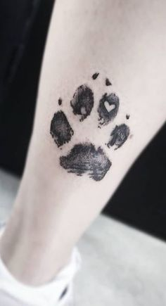 30 Paw Print Tattoos / Ideas, Designs & Pictures - Tattoo Me Now
