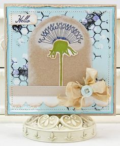 Dandelion Wishes; Distressed Background Blocks; Peaceful Wildflowers; Dandelion Stems and Toppers Die-namics; Blueprints 3 Die-namics - Mona Pendleton