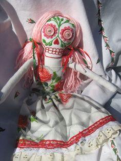 Dia de Los Muertos Ragdoll from Pandora on Etsy.