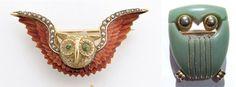 vintage owl pins