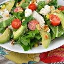 Spinach Salad with Chicken, Avocado and Goat Cheese. This is my kind of dinner! Yum. Will be making soon!
