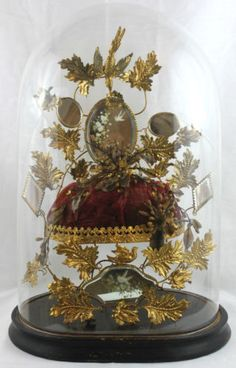 Large-Antique-Victorian-French-Gilt-Bird-Glass-Dome-Wedding-Marriage-Diorama