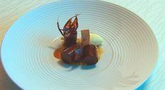 Dark chocolate, passionfruit ice cream, and caramel | MasterChef Australia #MasterChefRecipes