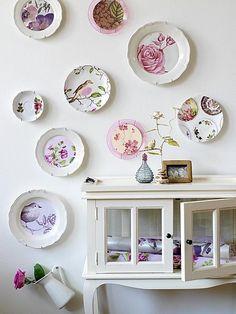 Casa - Decoração - Reciclados: Pratos lindos - Decorando com Estilo e Poesia!