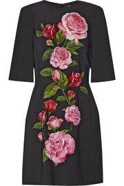Dolce & Gabbana - Floral-print crepe mini dress