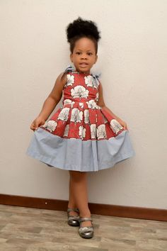 Items similar to African Inspired Dress/ African Fashion/ African Style/ Ankara Girl Dress/ Kiddies Ankara Dress on Etsy Ankara Styles For Kids, African Dresses For Kids, African Children, Dresses Kids Girl, Kids Outfits, African Fashion Designers, African Print Fashion, Africa Fashion, African Fashion Dresses