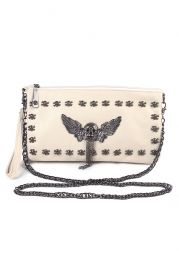 Skull Embellished Clutch - Bags/Purses