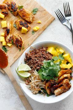 Thai Chicken Coconut Quinoa Bowls
