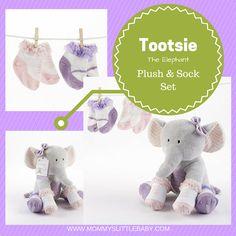 Tootsie the Elephant Plush and Sock Set