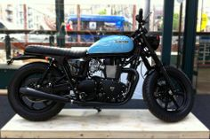 Our custom Bonneville which was built at our Romford workshop.