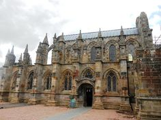 Rosslyn Chapel was really pretty, but we couldnt take pictures inside!