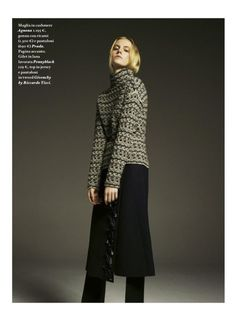 sweatershare:IO Donna Italy magazine No. 41, 6th Oct 2012 Photos: Gregory Derkenne Models: Claire Collins, Jemma Baines, Lauren Bigelow