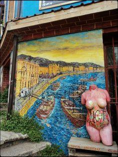 Mural y escultura, Valparaiso, Chile, 2012, foto por luz:alhucema