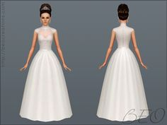 BEO CREATIONS: Wedding dress 27  Sims 3 wedding dress female clothing