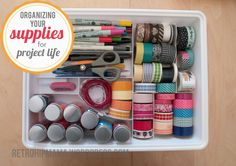 project life organization // the supplies