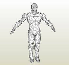 Foamcraft .pdo file template for Iron Man - Extremis Armor +FOAM+.