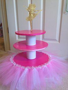 Ballerina cupcake stand Ballerina Birthday Parties, Ballerina Party, Princess Birthday, Princess Party, 1st Birthday Parties, Balloon Decorations, Birthday Decorations, Baby Shower Parties, Baby Boy Shower